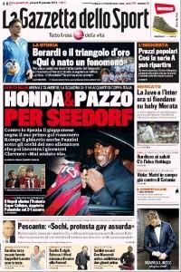 La Gazzetta dello Sport 16.01.14