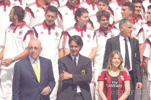 AcM_Galliani_Inzaghi_Barbara Berlusconi
