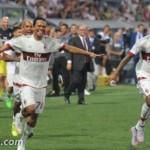 FOTO: Twitter, Carlos Bacca e Luiz Adriano verso San Siro