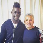 Mario Balotelli incontra Roberto Baggio