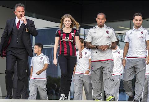 presentazione ai tifosi del milan AC stagione calcio 2015-2016