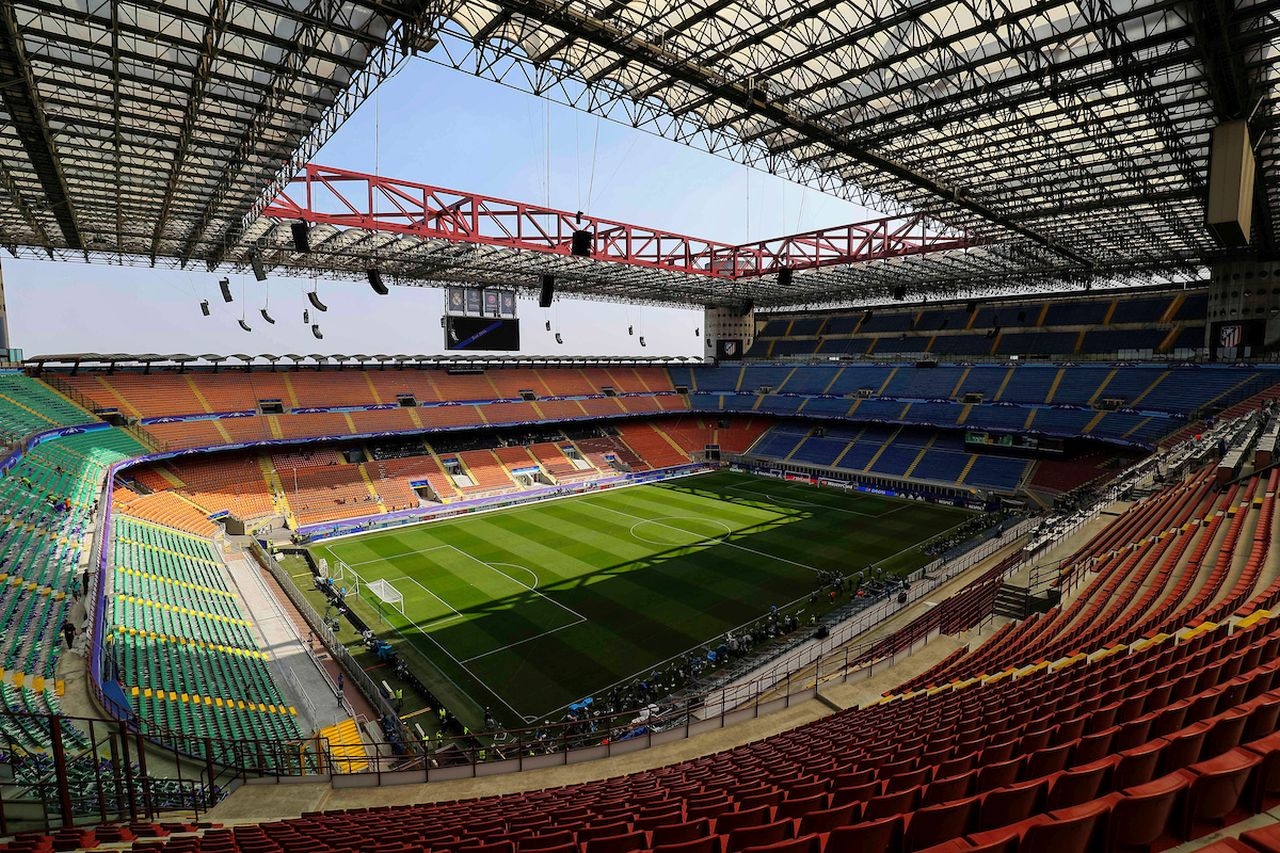 Panoramica Panoramic view  Milano 27-05-2016 Stadio San Siro / Giuseppe Meazza  Football Champions League Final . Foto Daniel Chesterton / PHCImages / Panoramic / Insidefoto